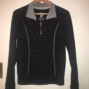Pink yoga quarter zip signature pullover size S